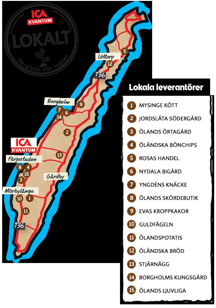 karta färjestaden öland Lokala leverantörer | ICA Kvantum Färjestaden karta färjestaden öland