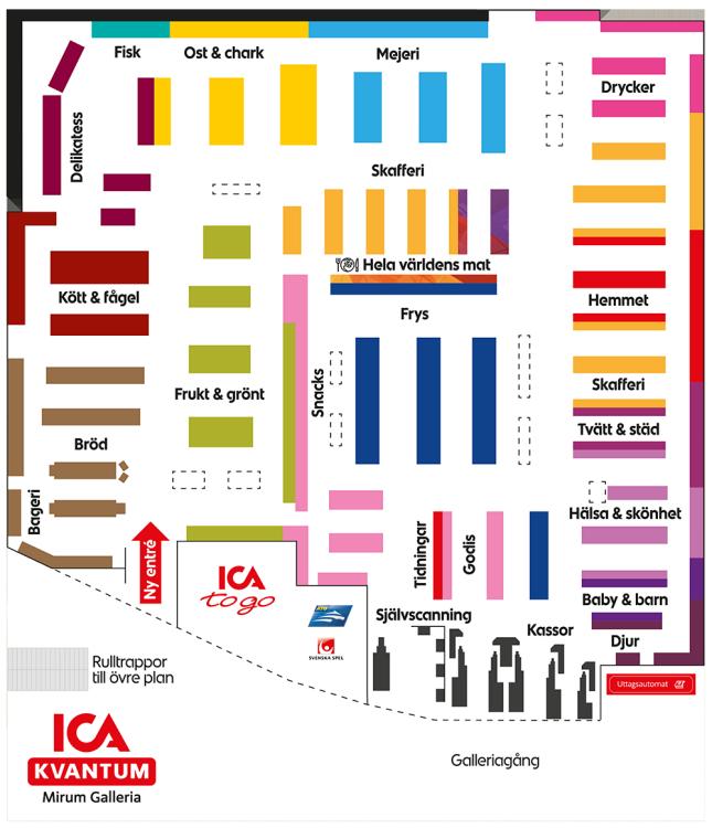 mirum galleria karta Butikskarta | ICA Kvantum Mirum Galleria, Norrköping mirum galleria karta