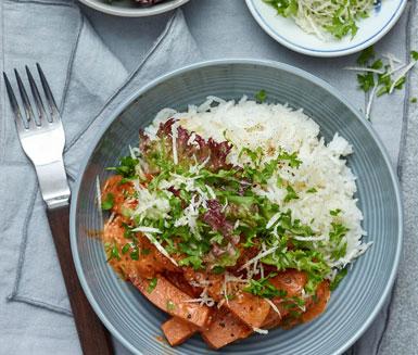 kycklingkorv stroganoff recept