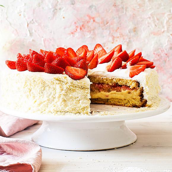 jordgubbsfyllning tårta recept