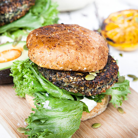 black bean burger recept