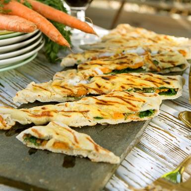 Recept: Calzone med getost och sötpotatis