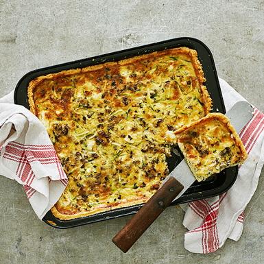 Bildresultat för paj med fetaost zucchini och tapenade