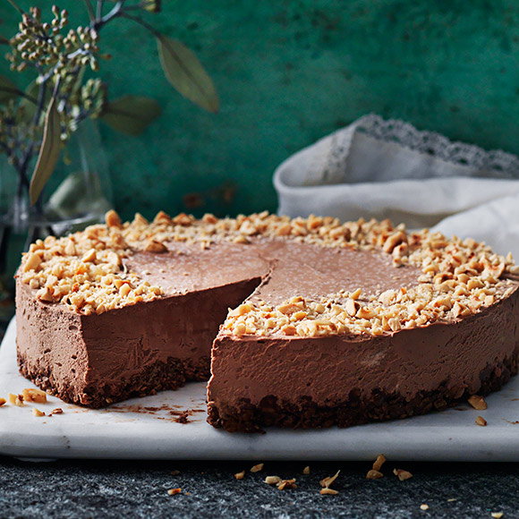 choklad och hasselnöts cheesecake ica