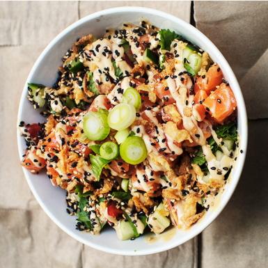 Pok 233 Bowl Med Lax Och Kimchi Recept Ica Se