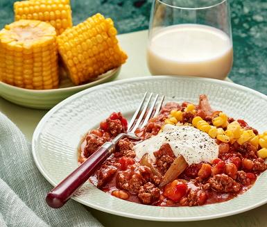 Chili con carne med majskolvar | Recept ICA.se