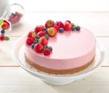 cheesecake jordgubb recept