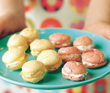 Macarons recept blåbär