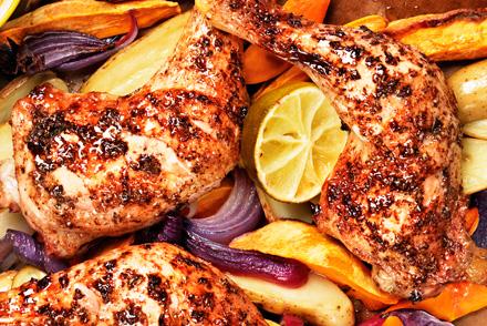 kyckling i ugn hur länge
