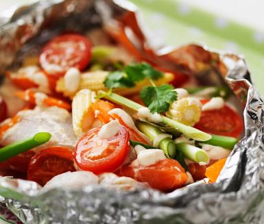 Asiatisk Fisk I Folie Recept Icase